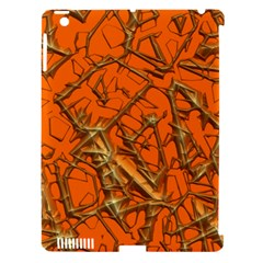 Thorny Abstract, Orange Apple iPad 3/4 Hardshell Case (Compatible with Smart Cover)