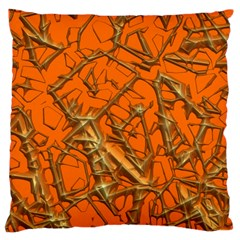 Thorny Abstract, Orange Large Cushion Case (Two Sides)