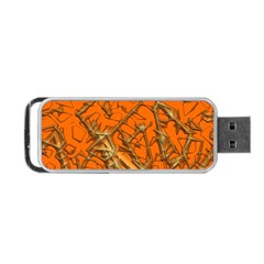 Thorny Abstract, Orange Portable Usb Flash (two Sides)
