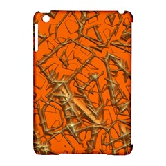 Thorny Abstract, Orange Apple iPad Mini Hardshell Case (Compatible with Smart Cover)