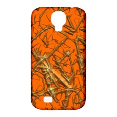 Thorny Abstract, Orange Samsung Galaxy S4 Classic Hardshell Case (PC+Silicone)