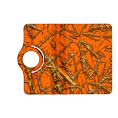 Thorny Abstract, Orange Kindle Fire HD (2013) Flip 360 Case