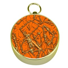 Thorny Abstract, Orange Gold Compasses