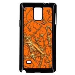 Thorny Abstract, Orange Samsung Galaxy Note 4 Case (Black)