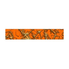 Thorny Abstract, Orange Flano Scarf (Mini)
