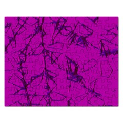 Thorny Abstract,hot Pink Rectangular Jigsaw Puzzl