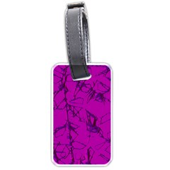 Thorny Abstract,hot Pink Luggage Tags (Two Sides)