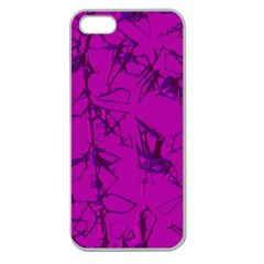 Thorny Abstract,hot Pink Apple Seamless iPhone 5 Case (Clear)