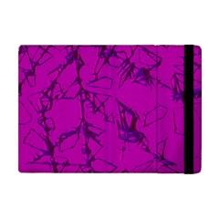 Thorny Abstract,hot Pink Apple iPad Mini Flip Case
