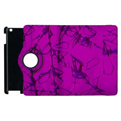 Thorny Abstract,hot Pink Apple iPad 2 Flip 360 Case