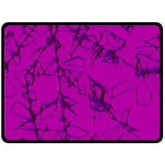 Thorny Abstract,hot Pink Double Sided Fleece Blanket (Large)