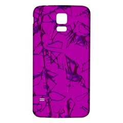 Thorny Abstract,hot Pink Samsung Galaxy S5 Back Case (White)