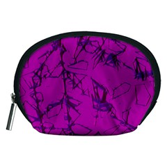 Thorny Abstract,hot Pink Accessory Pouches (Medium)