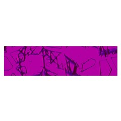Thorny Abstract,hot Pink Satin Scarf (Oblong)