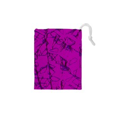 Thorny Abstract,hot Pink Drawstring Pouches (xs)