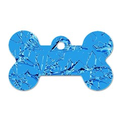 Thorny Abstract,ice Blue Dog Tag Bone (Two Sides)