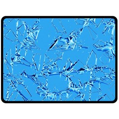 Thorny Abstract,ice Blue Double Sided Fleece Blanket (Large)