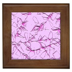 Thorny Abstract,soft Pink Framed Tiles