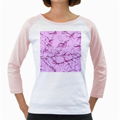 Thorny Abstract,soft Pink Girly Raglans