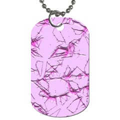 Thorny Abstract,soft Pink Dog Tag (One Side)