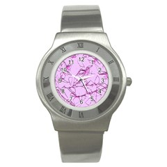 Thorny Abstract,soft Pink Stainless Steel Watch