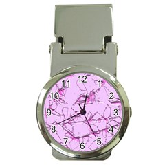 Thorny Abstract,soft Pink Money Clip Watches