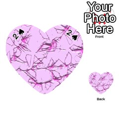 Thorny Abstract,soft Pink Playing Cards 54 (Heart)