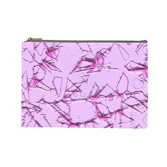 Thorny Abstract,soft Pink Cosmetic Bag (Large)