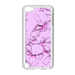 Thorny Abstract,soft Pink Apple iPod Touch 5 Case (White)