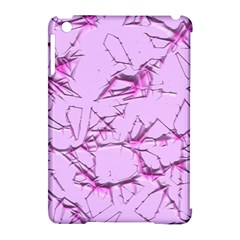 Thorny Abstract,soft Pink Apple iPad Mini Hardshell Case (Compatible with Smart Cover)