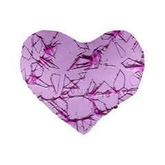 Thorny Abstract,soft Pink Standard 16  Premium Heart Shape Cushions