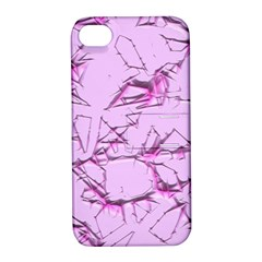 Thorny Abstract,soft Pink Apple iPhone 4/4S Hardshell Case with Stand