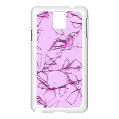 Thorny Abstract,soft Pink Samsung Galaxy Note 3 N9005 Case (White)