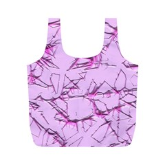 Thorny Abstract,soft Pink Full Print Recycle Bags (M)