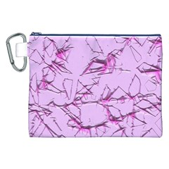 Thorny Abstract,soft Pink Canvas Cosmetic Bag (XXL)