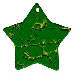 Thorny Abstract,green Ornament (Star)