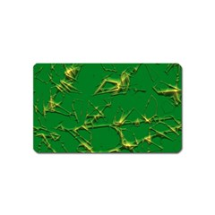 Thorny Abstract,green Magnet (Name Card)