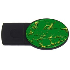Thorny Abstract,green USB Flash Drive Oval (1 GB)