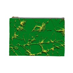 Thorny Abstract,green Cosmetic Bag (Large)