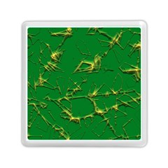 Thorny Abstract,green Memory Card Reader (square)