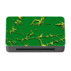 Thorny Abstract,green Memory Card Reader with CF