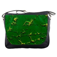 Thorny Abstract,green Messenger Bags