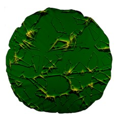 Thorny Abstract,green Large 18  Premium Round Cushions