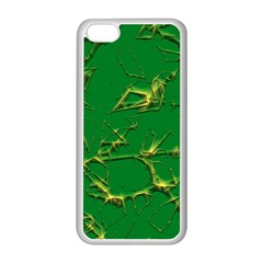 Thorny Abstract,green Apple iPhone 5C Seamless Case (White)