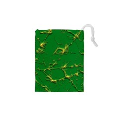 Thorny Abstract,green Drawstring Pouches (xs)