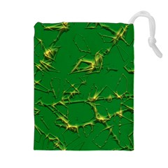 Thorny Abstract,green Drawstring Pouches (Extra Large)