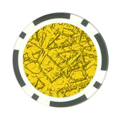 Thorny Abstract,golden Poker Chip Card Guards (10 pack)
