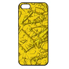 Thorny Abstract,golden Apple iPhone 5 Seamless Case (Black)