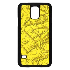 Thorny Abstract,golden Samsung Galaxy S5 Case (Black)
