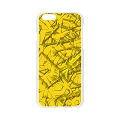 Thorny Abstract,golden Apple Seamless iPhone 6/6S Case (Transparent)
